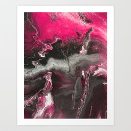 Pink Lighting Art Print