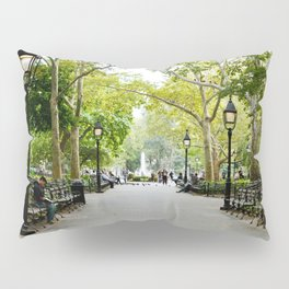 Morning Stroll in the Village Pillow Sham