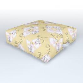Saluki Pattern Outdoor Floor Cushion