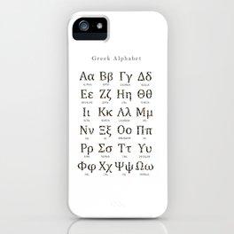 Greek alphabet - Language of Science iPhone Case