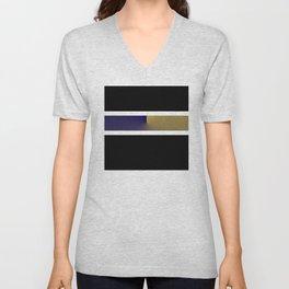 Team Colors 3..navy,gold Unisex V-Neck