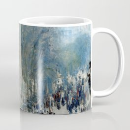 Claude Monet - Boulevard des Capucines (new color editing) Coffee Mug