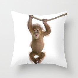 Monkey Style Throw Pillow