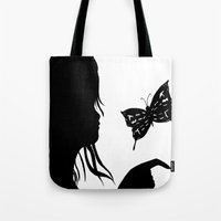 shadow Tote Bags featuring Shadow by Ruby_Dag