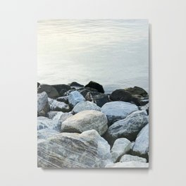 Rocks by the water | Minimalist landscape photography Metal Print