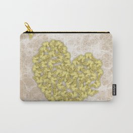 Romantic butterfly swarm on peach texture Carry-All Pouch