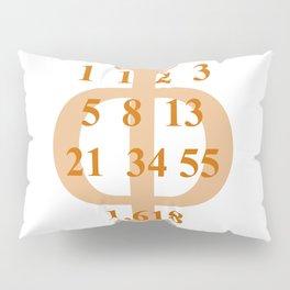 Fibonacci numbers. golden section Pillow Sham