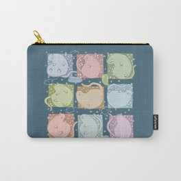 Blobby Cats dark Carry-All Pouch