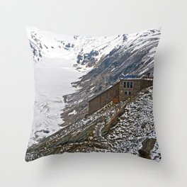 High up in the Alps Throw Pillow