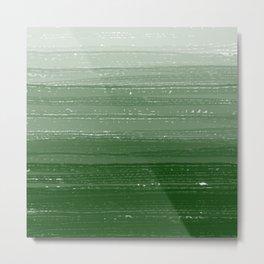 Forest Green Paint Gradient Metal Print