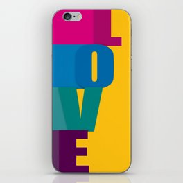 The love is colorful iPhone Skin