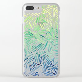 all hatched up chartreuse Clear iPhone Case