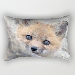 Watercolor Fox, Red Fox 28, Union Reservoir, Boulder Rectangular Pillow