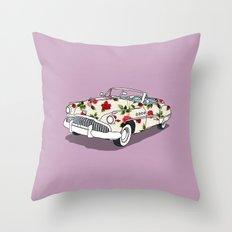 Blossom car Throw Pillow