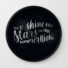 Shine Like Stars - Summer Wall Clock
