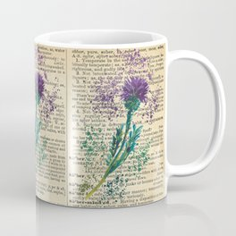 Vintage Jaggy Thistle  Coffee Mug