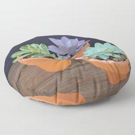 Trio of Small Succulents Floor Pillow