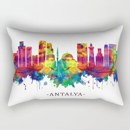 Antalya Turkey Skyline Rectangular Pillow