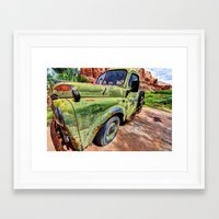 ram Framed Art Prints featuring Ram by Kent Moody