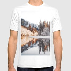 Calm Exploring  #society6 #photography Mens Fitted Tee White X-LARGE