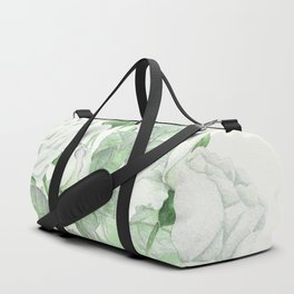 Bouquet Of Pastel Green Roses Duffle Bag