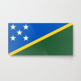 Solomon Islands Flag Metal Print