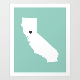 California Love in Mint Art Print