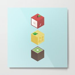 Fruit cubes Metal Print