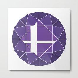 Purple Logo (Updated) Metal Print