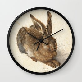 Young Hare Wall Clock