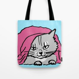 outside the bed is dangerous-siberian cat/big Tote Bag