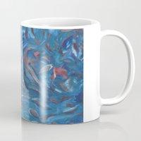 life aquatic Mugs featuring Aquatic by Victoria Bladen