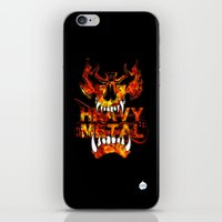 heavy metal iPhone & iPod Skins featuring Heavy Metal by Lindsay Spillsbury