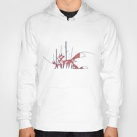 foxes Hoodies featuring Foxes by Ale Giorgini
