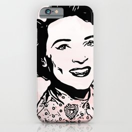 Betty White Pink Clouds iPhone Case