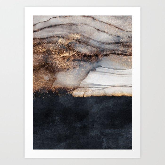 Incoming storm Art Print