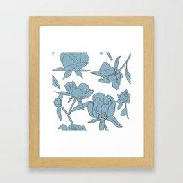 Roses in Blue Framed Art Print