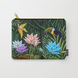 Classical Masterpiece 'Tropical Birds and Flying Things' by Henry Rousseau Carry-All Pouch