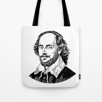 shakespeare Tote Bags featuring Shakespeare by OnaVonVerdoux