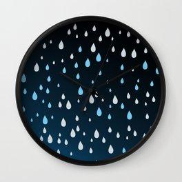 Rain Rain Rain Wall Clock