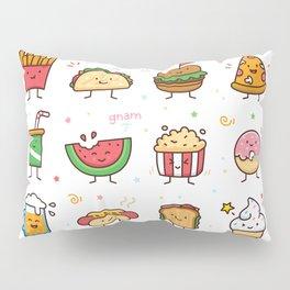 Food Doodle Pillow Sham