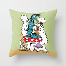 The Caterpillar Throw Pillow