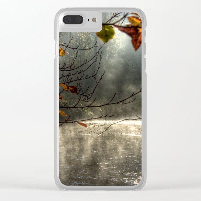 autumn light serenity Clear iPhone Case