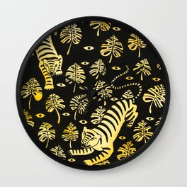 Tiger jungle animal pattern Wall Clock