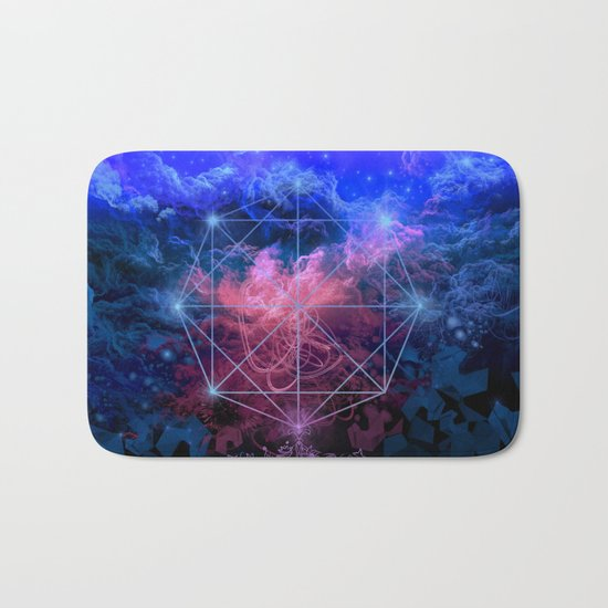 geometry space mandala Bath Mat
