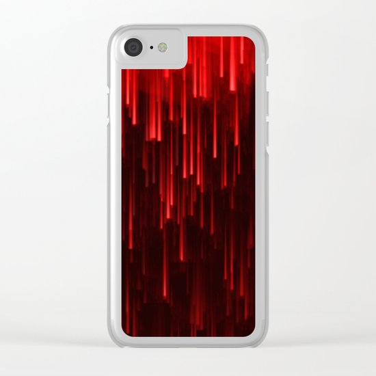 Raining Red Clear iPhone Case