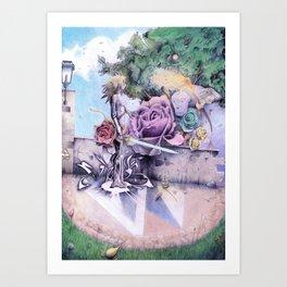 Rose Sword Art Print