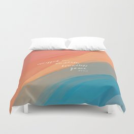 wrapped in endless, boundless grace Duvet Cover