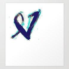 Paintbrush Heart Art Print