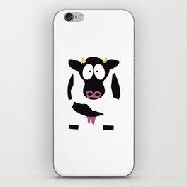 Cow in Cartoon Stlye iPhone Skin